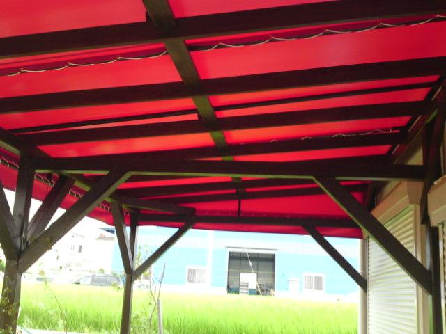 テント カフェのテラス
